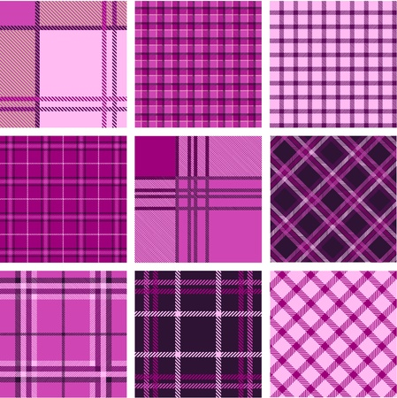 Plaid patterns Vector