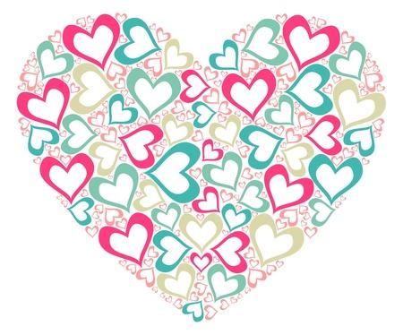 valentin day: Stylized heart