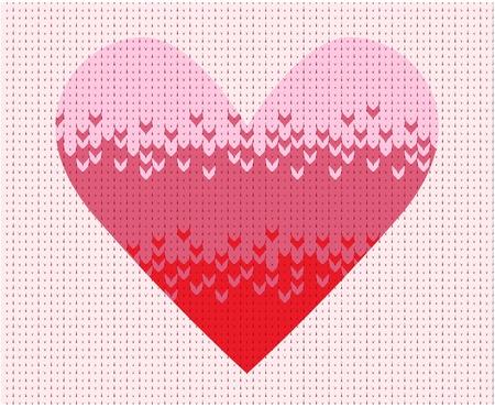 knitted background: De punto de fondo con el coraz�n