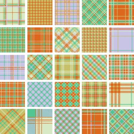 Big plaid patterns set Vector