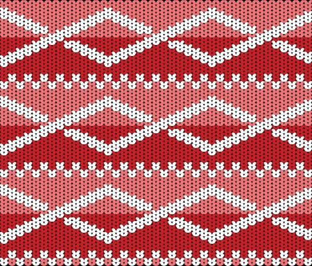 Knitted texture with ornament Vector