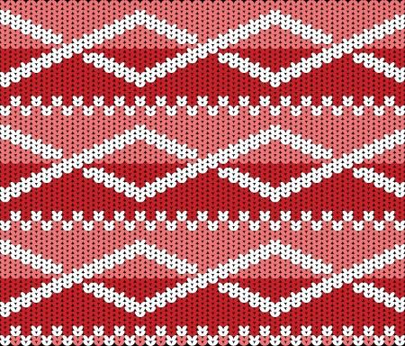 woolen fabric: Textura hecha punto con el ornamento Vectores