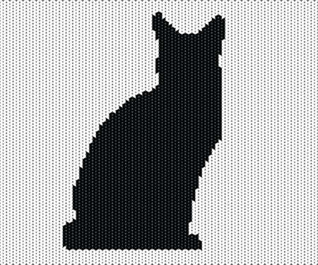 Silhouette of cat from knitted texture Stock Vector - 12807094