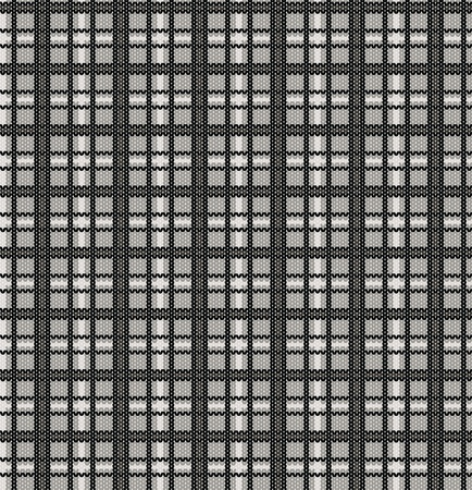 Plaid pattern from knitted texture Vector