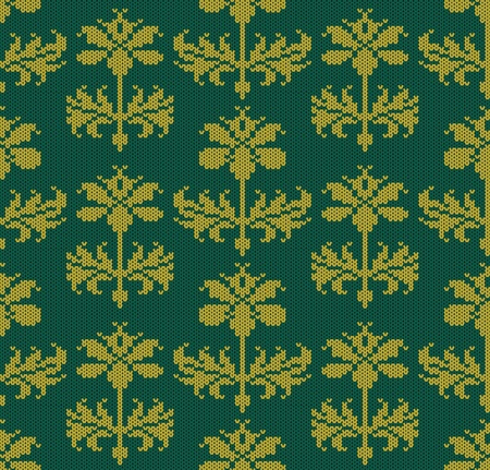 knitted background: Seamless wallpaper pattern with flowers