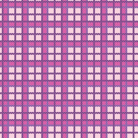 handiwork: Seamless plaid pattern from knitted texture