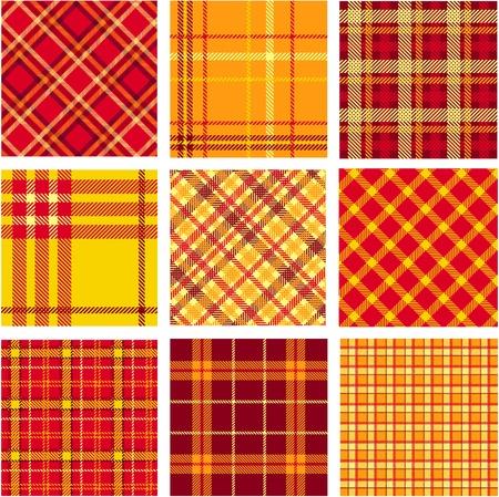 Bright plaid patterns