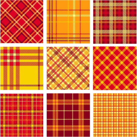 Bright plaid patterns