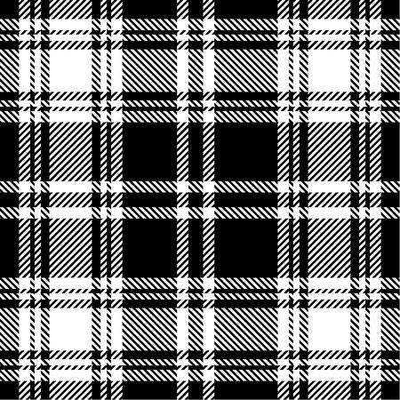 黒と白の格子縞のパターン