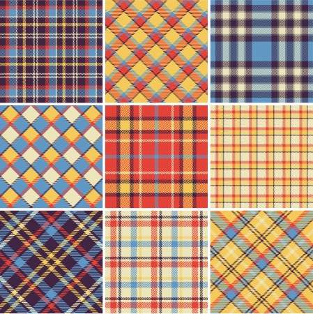 Bright plaid patterns Stock Vector - 13622338