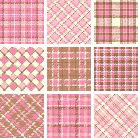 ピンクの格子縞のパターン