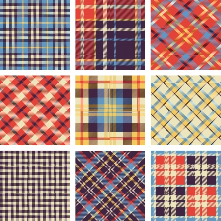 scottish: Tartan set