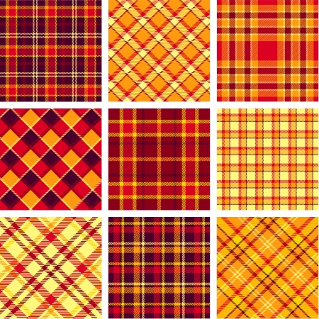 Bright plaid patterns Vector