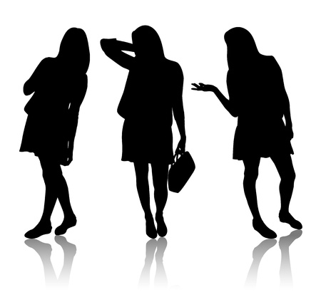 Silhouette of women Vector