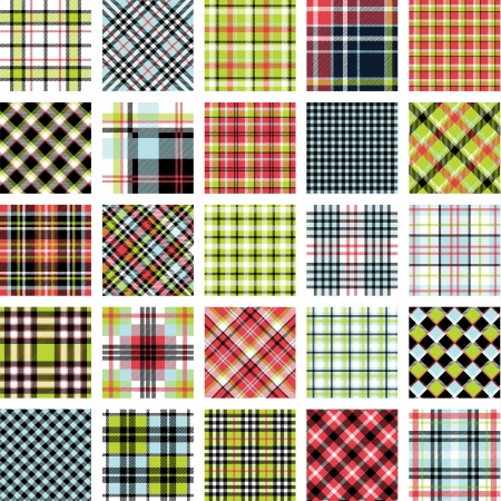 Big plaid pattern set Illustration