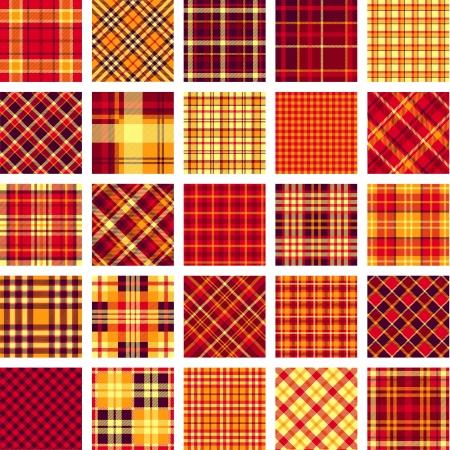 B&W big plaid pattern set Illustration