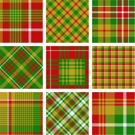 Christmas plaid patterns Stock Vector - 14742830