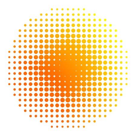 halftone background: Sun halftone