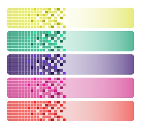 Abstract mosaic banners Vector