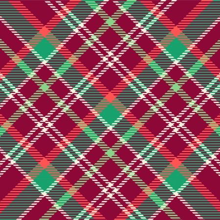 Patrón de la tela escocesa