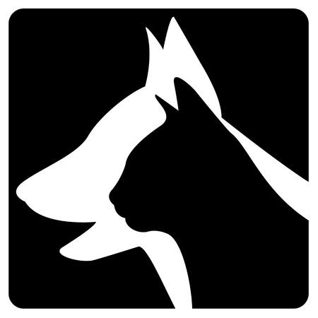 silueta de gato: Logo Veterinaria