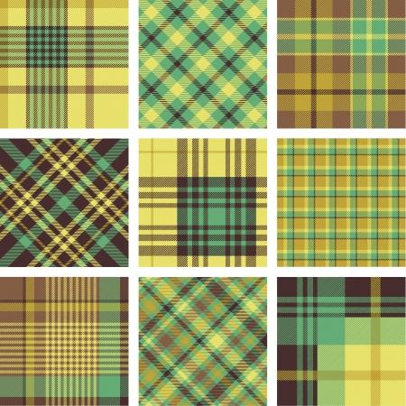 Los patrones de la tela escocesa
