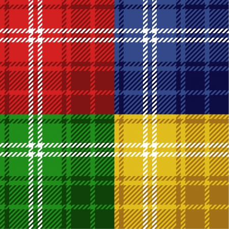 Seamless tartans set Vector