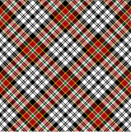 Seamless red tartan Illustration