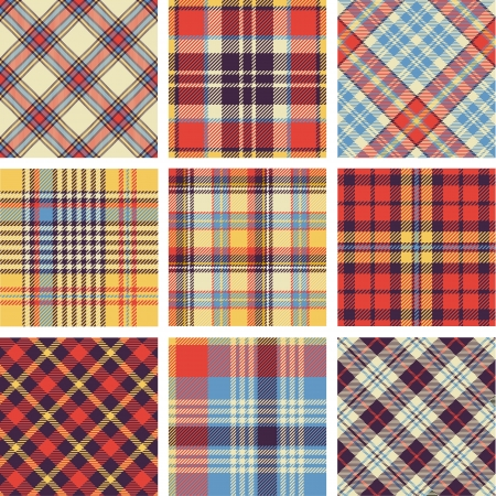 seamless: Plaid patterns