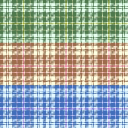 Seamless tartan patterns Vector