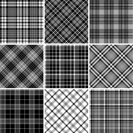 tartan plaid: Set of seamless tartan patterns