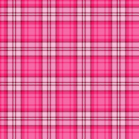 scottish: Bright pink seamless tartan