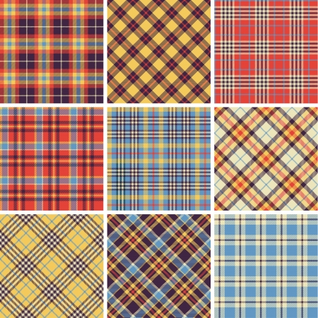 Set of seamless tartan patterns Stock Vector - 17971942
