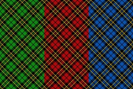 irish background: Seamless tartan patterns