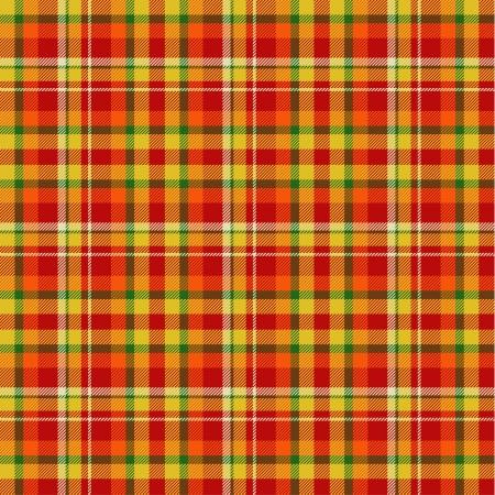 red plaid: Seamless tartan pattern