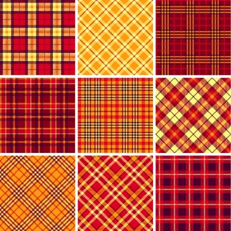 Set of seamless tartan patterns Stock Vector - 18974274