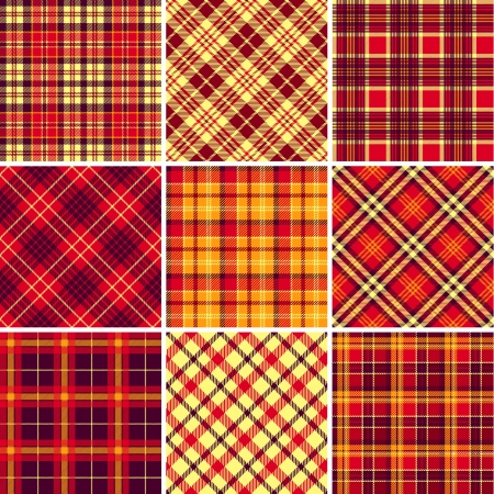 scotch: Set of seamless tartan patterns