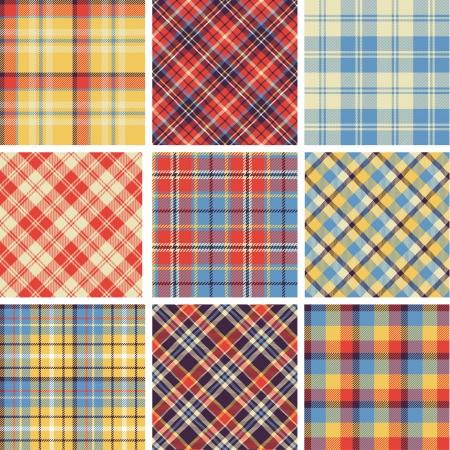 Set of seamless tartan patterns Stock Vector - 23114741
