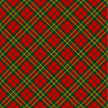 kerst interieur: X-mas naadloze tartan patroon