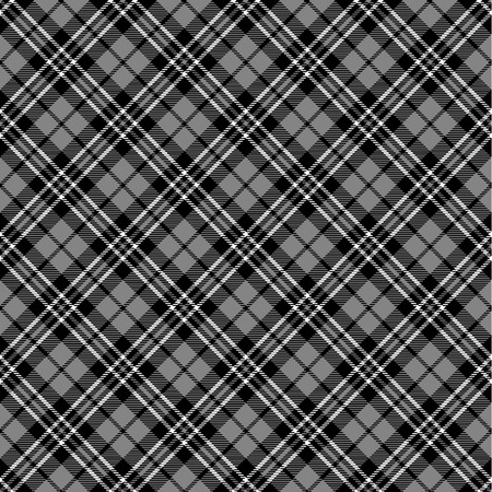 christmas plaid: Black & white seamless tartan pattern Illustration