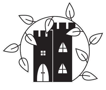 liana: Abstract castle with liana