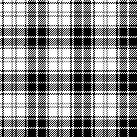 tartan plaid: Black and white seamless tartan Illustration