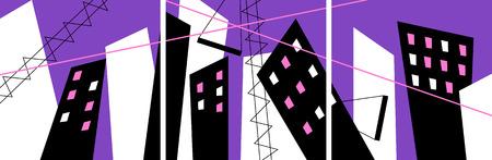 absract: Absract costruzione trittico
