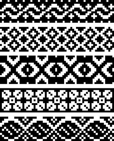 kelet európa: Egyszerű pixel minták Illusztráció