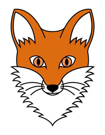 artful: Fox head vector illustration Illustration