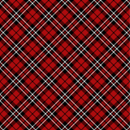 red black: Seamless tartan pattern