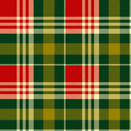 irish christmas: Seamless tartan pattern