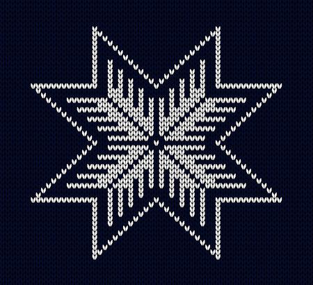 knit: Knit snowflake design