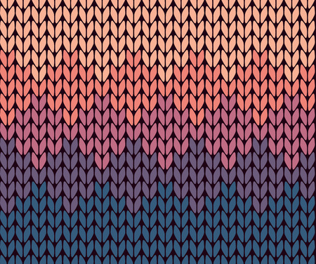 knitting: Seamless gradient knitted pattern Illustration