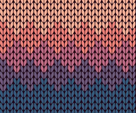 crochet: Seamless gradient knitted pattern Illustration